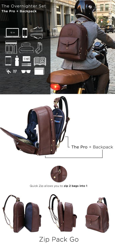 The Leather Duffle Backpack 6-in-1 Set || Zip Pack Go by Wool & Oak — Kickstarter