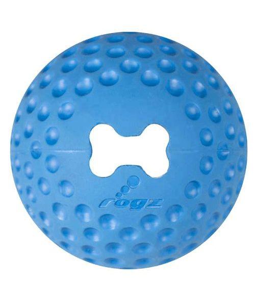 ROGZ GUMZ BALL - BLUE TREAT BALL. Available from www.nuzzle.co.za