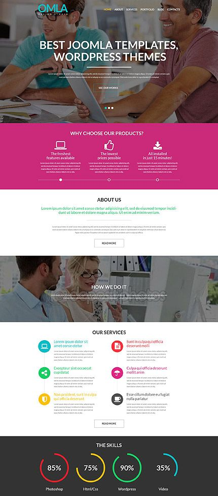 Web Design Agency WordPress Theme wordpress website template