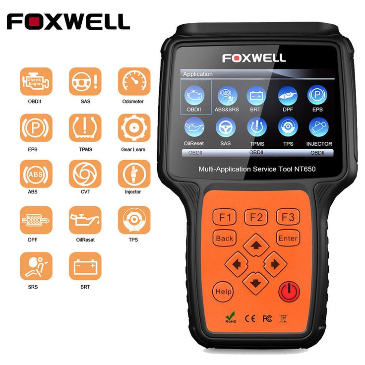Foxwell nt650 obdii diagnostic scanner epb sas bms dpf abs