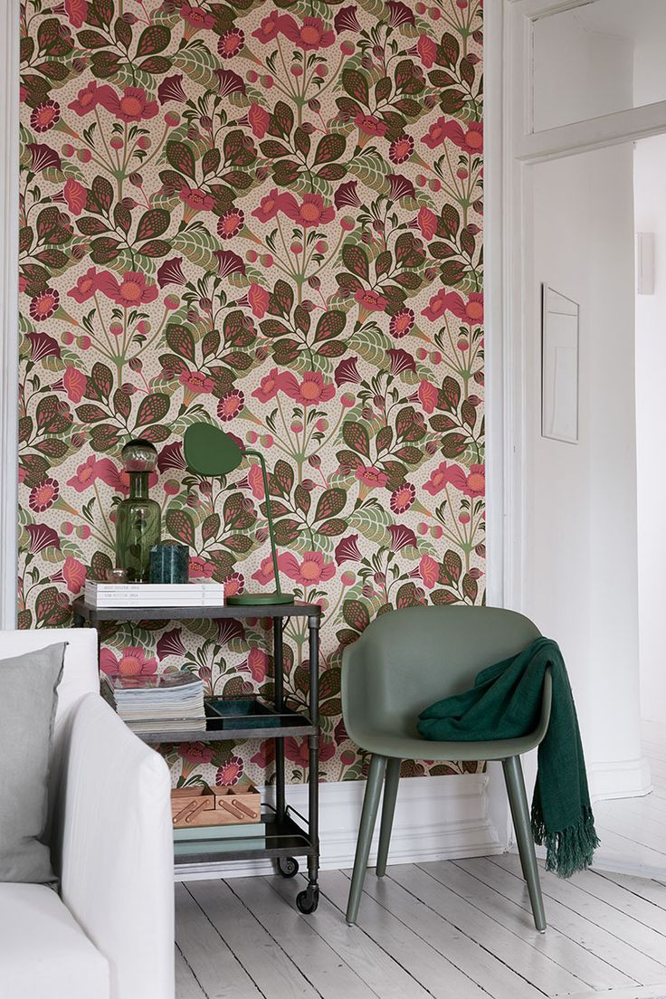 From the Wonderland Wallpaper book available at Hirshfield's.