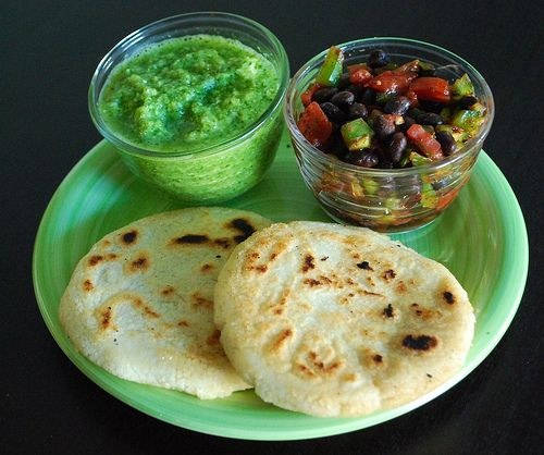 Venezuelan Stuffed Arepas - Zucchini Salsa makes these healthier than the ones with cheese in them like you can buy from vendors in Venezuela!