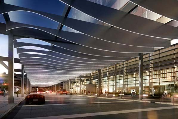 James cancer hospital and solove research institute for Building canopy design