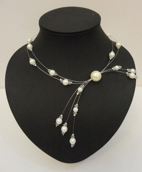 pearl necklace PandaHall Promotion use coupon code JL5OFFPINEN628 for 5% off for your orders, valid time from July 1 to July 5. #necklace #wirenecklace #pandahall
