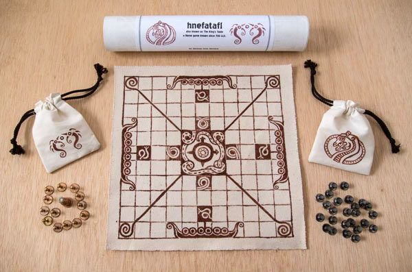Hnefatafl, also called The King's Table, is a two-player game originating about 400 A.D. in Iceland, Scandanavia, Ireland, and Lappland. One unusual aspect, rare for a board game, is that the two s...