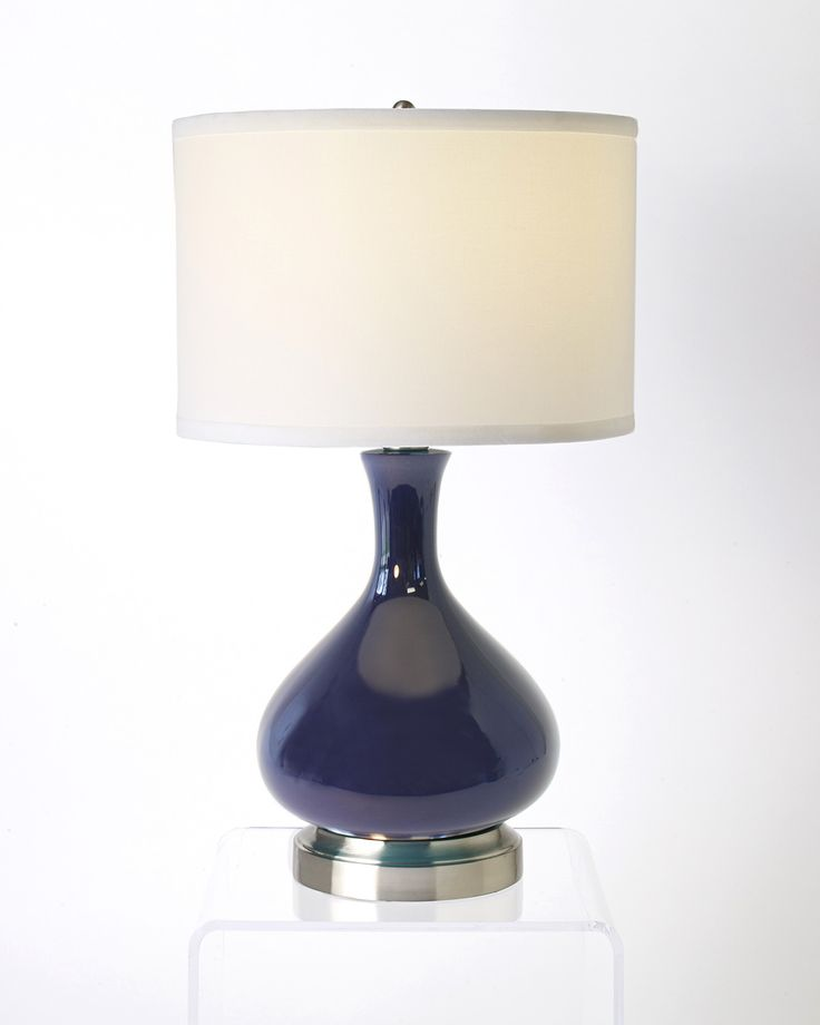 Bartlett Lapis Nickel Cordless Lamp - Made in the USA