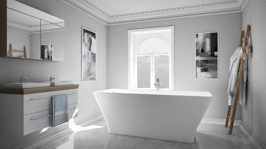 Bilde Cube. Frittstående badekar fra Interform.