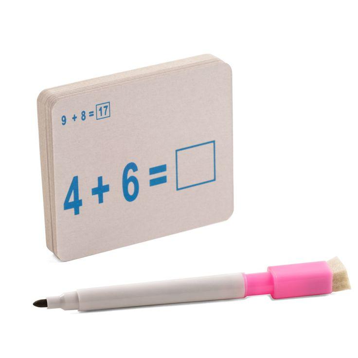 Juego de cartas aprende a sumar. Fotografía: Kinoki studio.