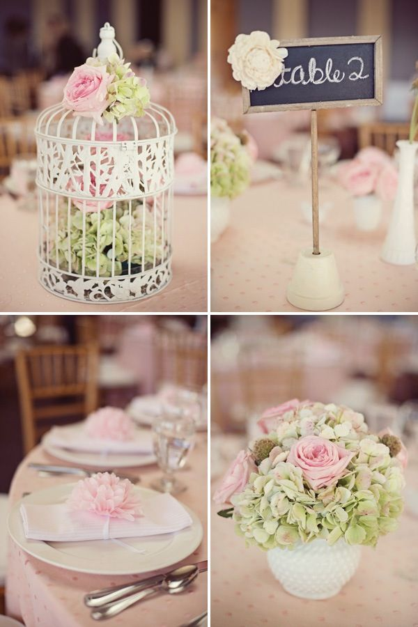 Flowers and birdcage