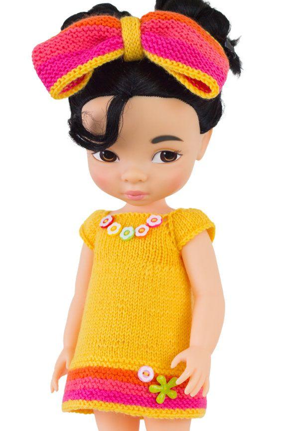 Yellow Crayon Dress For Disney Animators 16 inch by LelleModa