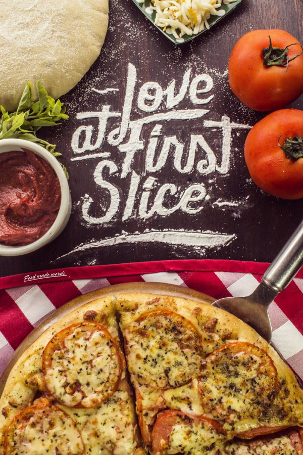 Love at first slice on Behance - Hand made typography by Juan Antía