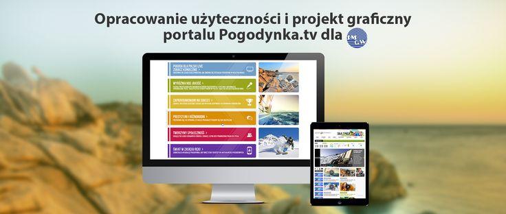 Opracowanie użyteczności i projekt graficzny portalu Pogodynka.tv dla IMGW. #miogmedia #użyteczność #projektgraficzny #projekt_graficzny