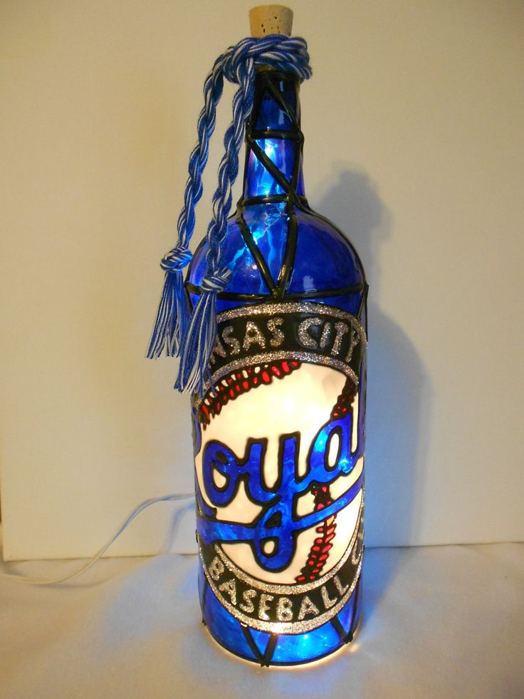 55 best hand painted lighted wine bottle images on for Hand painted glass bottles