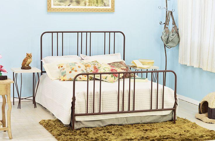 Cama de ferro modelo Vintage, resgatando o estilo antigo em uma cama de casal de qualidade. #camadeferro #camadecasal #camaclassica #camavintage