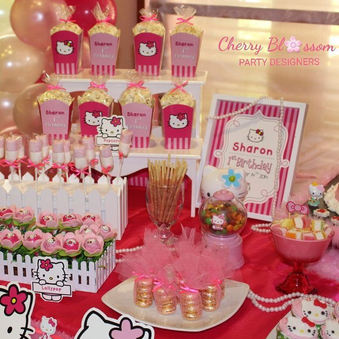 What a lovely theme.. love this hello kitty birthday party... happy first birthday, Serena... ------------------ #birthday #birthdayparty #hellokitty #hellokittyparty #tablesetting #sweetcorner #sweetcornersolo #party #partyideas #partydecor #partydecoration #partyplanner #partyplannersolo #eo #cherryblossompartydesigners #solo #surakarta