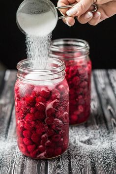A beautiful bright red homemade elixir of raspberries, sugar and vodka.  So easy to make and well worth the effort!