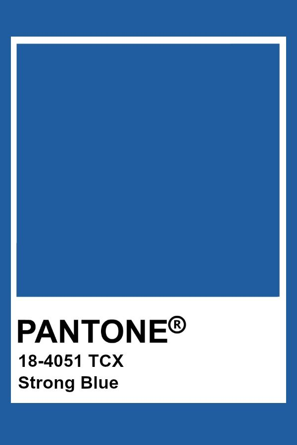 Pantone Strong Blue   Pantone blue, Pantone colour palettes, Classic blue  pantone
