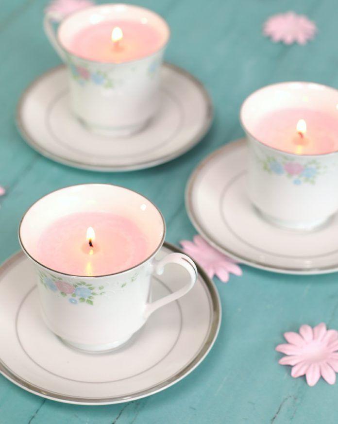 Diy Tea Cup Candles Tea Cup Candles Diy Teacup Candles Tea Cups Diy