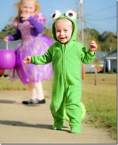 This DIY Pascal costume was made with Footie pajamas! Simple.