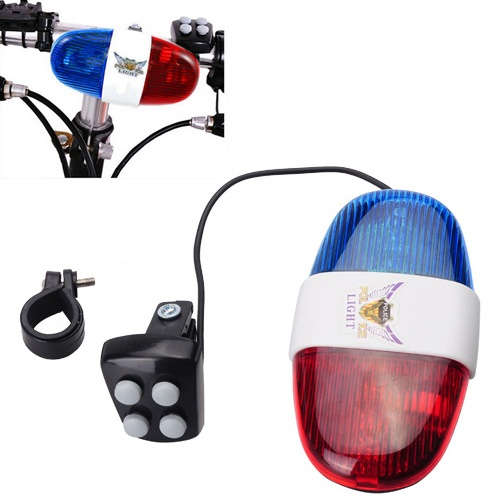 Bike Bicycle 4 Tone Police Light And Electric Horn Siren