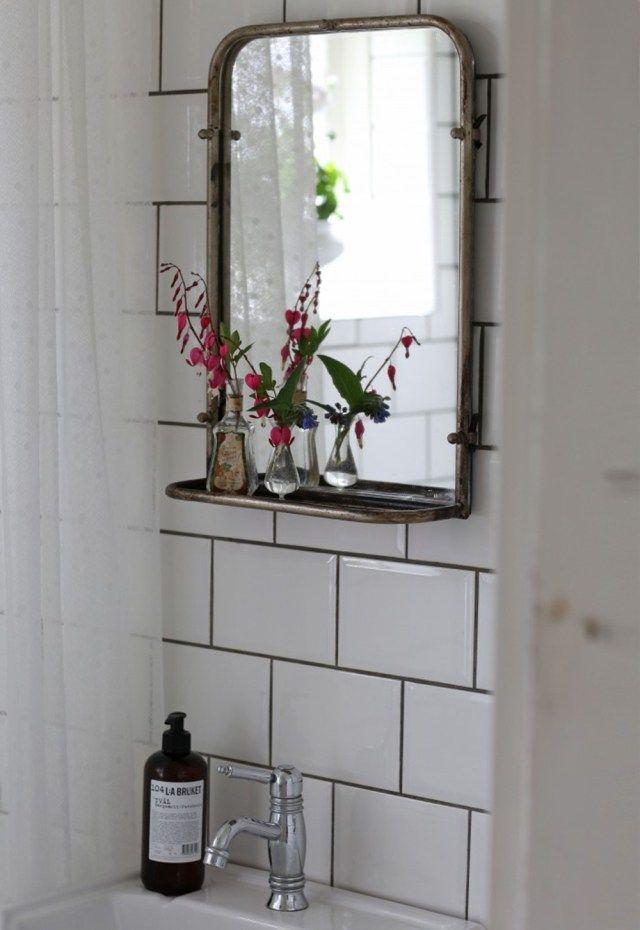 Strömshaga, Stromshaga, interior, inredning, swedish design, scandinavian interior, badrum, bathroom, underbaraclara, clara lindström, spegel, swedish blogger, mirror