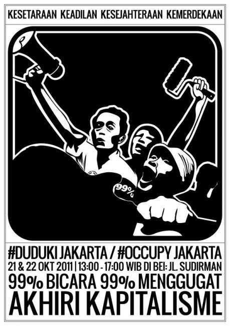 Stunning Poster Art from Indonesia – #Occupy Jakarta | the bad days will end