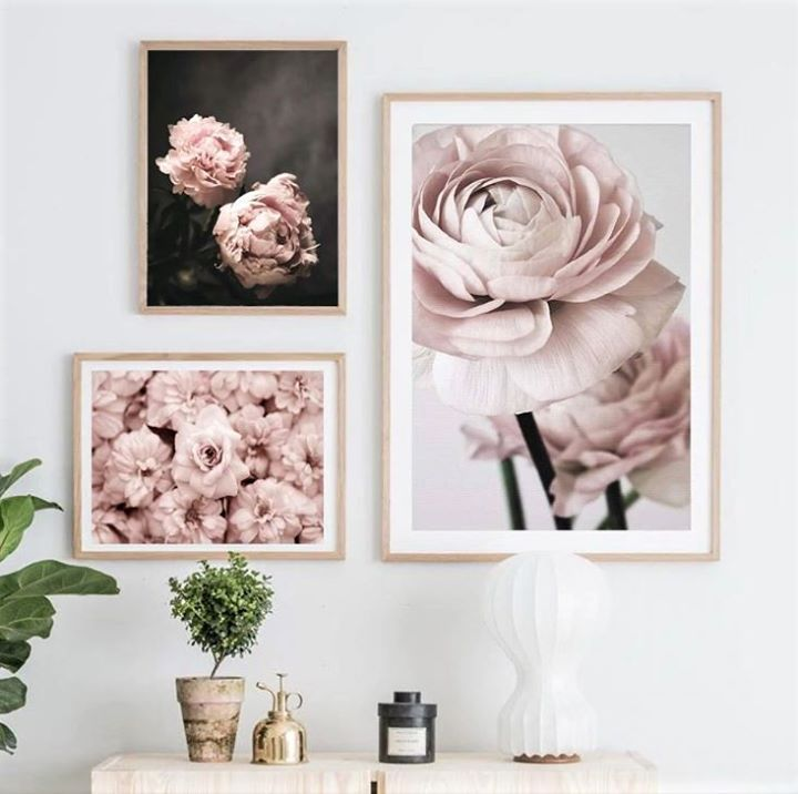 Heartnsoulhome Happy Monday Let These Beautiful Soft Pink Flowers Brighten Up Your Day Week Fo Flower Canvas Wall Art Flower Painting Canvas Flower Canvas