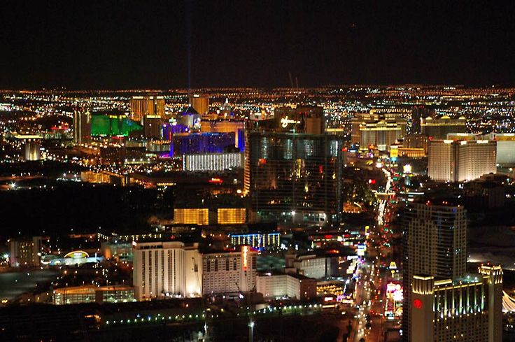 View from the top - the bright lights of Vegas from the top of the Stratosphere.