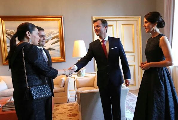 May 11, 2016, Crown Princess Mary and Crown Prince Frederik of Denmark held a dinner for participants in fashion of the Copenhagen Fashion Summit 2016 at Frederik VIII's Palace in Copenhagen
