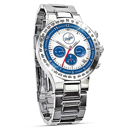Los Angeles Dodgers Collector's Stainless Steel Men's Watch