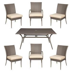 Hampton BayPosada 7-Piece Patio Dining Set with Cushion Insert $268.80 at  homedepot.com + FS online deal