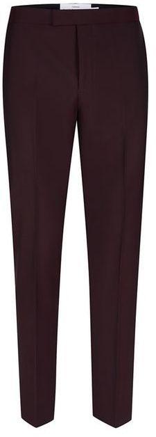 Topman CHARLIE CASELY-HAYFORD X Maroon Skinny Wedding Suit Pants