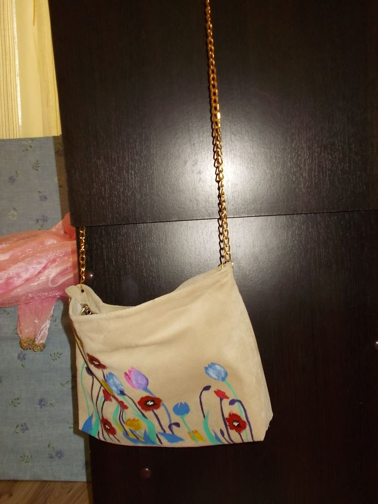 Suede painted purse
