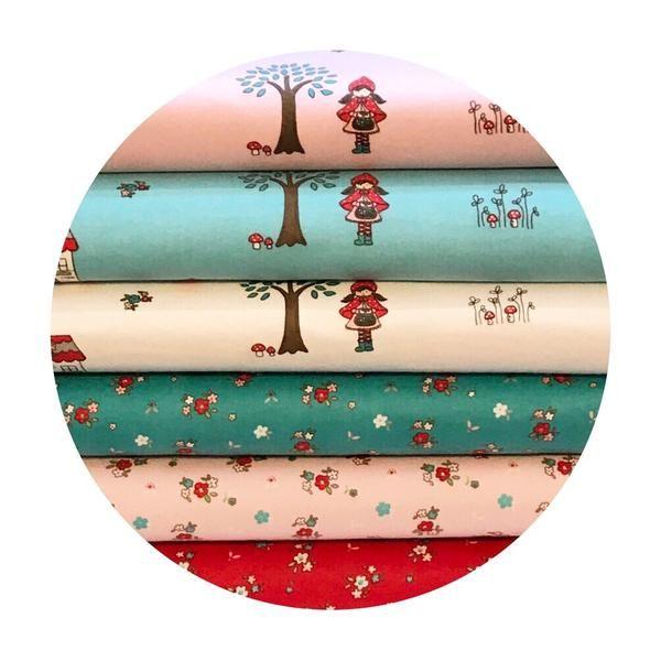 6 Fat Quarter Bundle - Little Red Riding Hood Collection - Riley Blake – Pins & Needles Fabrics