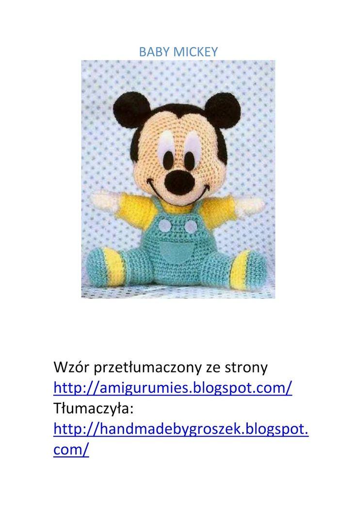 Baby Mickey amigurumi