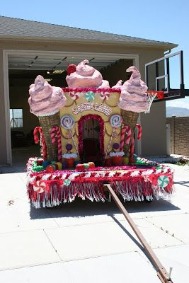 Angela's Two angels: Candy Land Parade Float