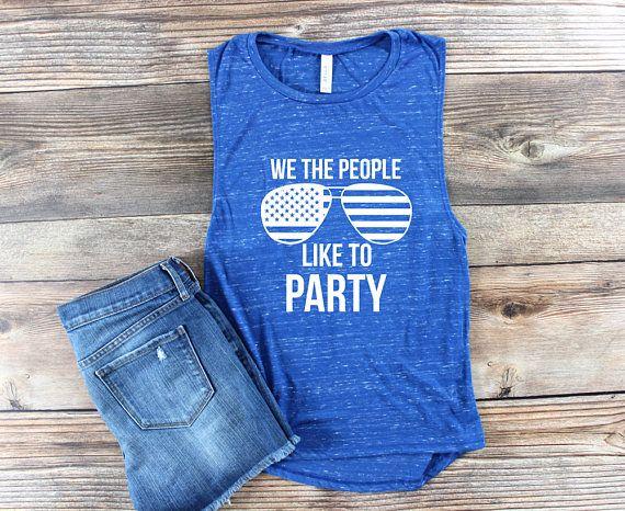 Womens Graphic Tee / USA Shirt / USA Tank Top / 4th of July / Patriotic Shirt/  America Shirt / Day Drinking Shirt / Muscle Tank / Muscle Shirt / merica Shirt