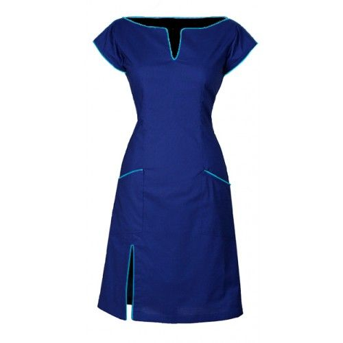 Ecouture Connie blue dress. Organic cotton and bamboo silk.