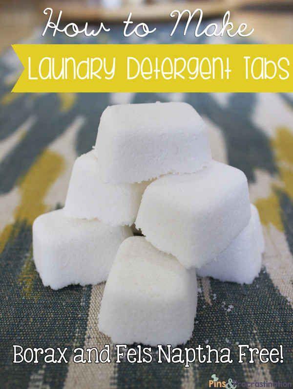 O hacer sus propias fichas de detergentes de lavandería.