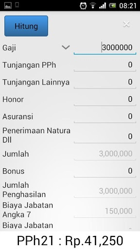 New Version 2.  Tax Calculation Screen.  Theme : Day Light