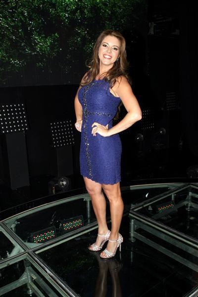 """Alicia Machado en la presentación de la telenovela """"Lo imperdonable"""" en México, el 16 de abril de 2015.¿Nos sigues en Facebook?"""