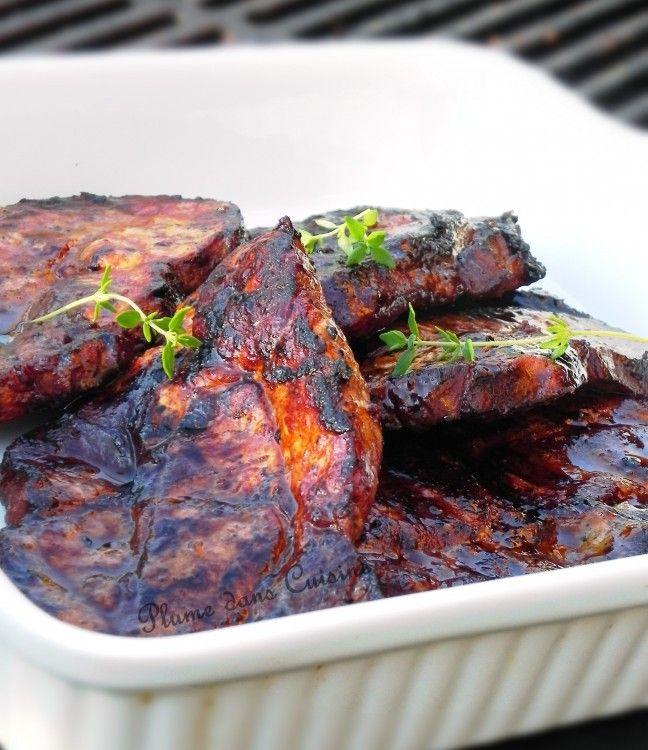 17 meilleures id es propos de c tes de porc sur for Marinade pour viande barbecue