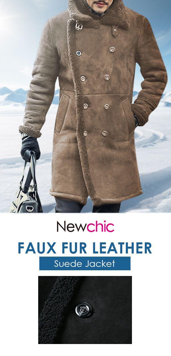 4af22b367c Mens Mid Long Faux Leather Coat #menswear #outdoor #jacket #coat ...