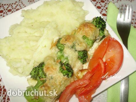 Fotorecept: Zapekané špízy z brokolice - Jednoduché chutné jedlo.