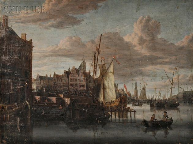 View of Amsterdam by Jacobus Storck