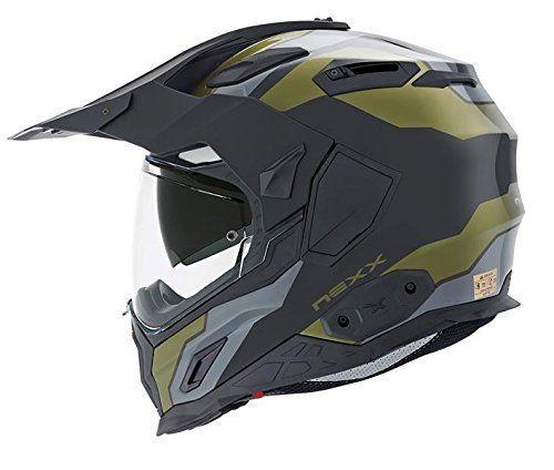 Nexx XD1 Baja Dual Sport Helmet (Large, Military Green)
