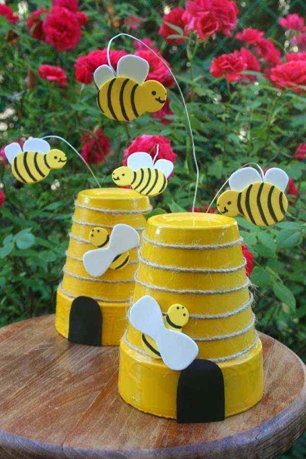 Garden Craft Ideas For Kids Bee Crafts For Kids Garden Crafts