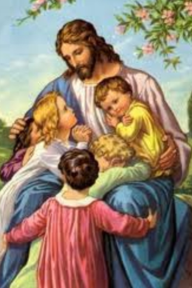 Jesus loved children. I remember this sweet picture from my youth.