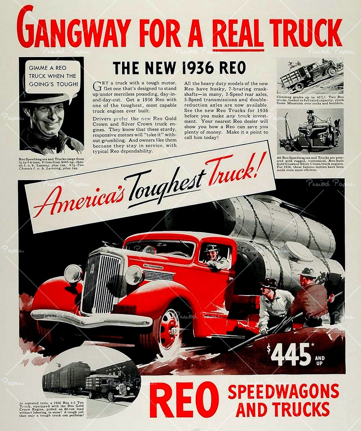 173 Best Images About REO Motor Car Company + On Pinterest