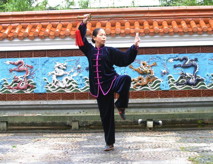 demonstratie in de Chinese tuin